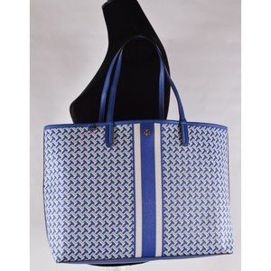 Tory Burch Large T Zag Canvas Tote Purse Bag